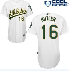 """$23.88 at """"MaryJersey""""(maryjerseyelway@gmail.com) Athletics 16 Billy Butler White Cool Base Stitched Baseball Jersey"""