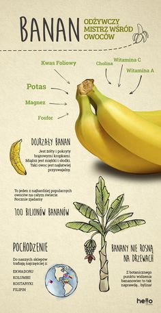 Łap banana! - HelloZdrowie Health Eating, Health Diet, Fitness Diet, Health Fitness, Nursing School Tips, Food Decoration, Diet And Nutrition, Raw Food Recipes, Healthy Tips