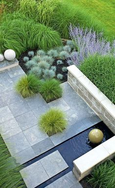 pretty gardens you'll want to recreate in your own backyard Houblon — Garden pathinterplanted pavers soften this.Houblon — Garden pathinterplanted pavers soften this. Modern Landscape Design, Landscape Plans, Garden Landscape Design, Contemporary Landscape, Landscape Timbers, Landscape Edging, Green Landscape, Landscaping Along Fence, Modern Landscaping
