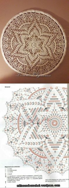 New Ideas Crochet Mandala Flower Doily Patterns Filet Crochet, Beau Crochet, Crochet Chart, Crochet Home, Thread Crochet, Crochet Stitches, Crochet Round, Motif Mandala Crochet, Crochet Doily Patterns