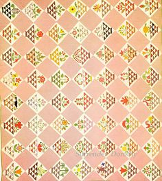 Pieced & Embroidered Quilt Album Basket 1860 Pennsylvania by SurrendrDorothy, via Flickr
