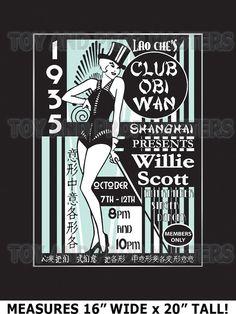 Indiana Jones Temple of Doom Club Obi-Wan Willie Scott Matt Poster
