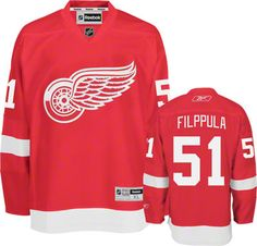 Detroit Red Wings Valtteri Filppula 51 Red Authentic Jersey Sale