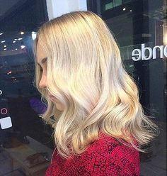 Blonde Long Bob Haircut Idea