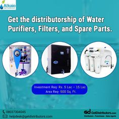 Grab the #distributorship opportunity of Water Purifiers, Water Filters, and Spare Parts under the 𝗯𝗿𝗮𝗻𝗱 𝗻𝗮𝗺𝗲 𝗔𝗹𝗸𝗮𝗶𝗼. For this #BusinessOpportunity, share your contact number. #waterpurifiers #waterfilters #filterparts #filterspareparts #purifierparts Alkaline Water Bottle, Ro Membrane, Spare Parts, Brand Names, Consumer Electronics, Water Filters, Opportunity, Boss, Number