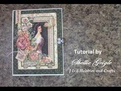 TUTORIAL PART 1 G45 MINI ALBUM PORTRAIT OF A LADY SHELLIE GEIGLE JS HOBBIES AND CRAFTS - YouTube