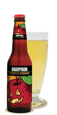Harpoon Brewery's Pumpkin Cider!!! It's crisp and slightly pumpkin-y, from a great brewery.
