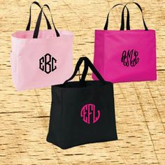 Hey, I found this really awesome Etsy listing at https://www.etsy.com/listing/472417548/5-embroidered-monogram-tote-bags