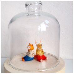 Детский утренник :)) Два Декабря . СВОБОДНЫ :) #декабрь #лис #заяц #fox #rabbit #December #toy #art #porcelain #dollechka #фарфор