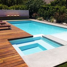 Swimming Pool Ideas Beautiful - Increasing Your Swimming Pool Area. Browse swimming pool designs to get inspiration for your own backyard oasis. Discover pool deck ideas and landscaping options to create your poolside dream. Pool Spa, Swimming Pool Landscaping, Small Swimming Pools, Swimming Pool Designs, Pool Decks, Landscaping Ideas, Backyard Landscaping, Pool Backyard, Backyard Designs