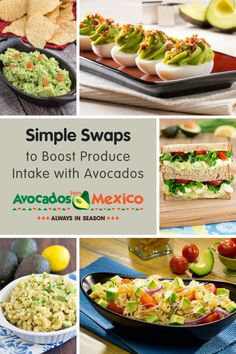 Simple Swaps to Boost Produce Intake with Avocados @produceforkids