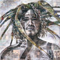 Postcards from Paradise IV- unframed Tahiti, Postcard Paper, Atelier D Art, Fine Art Prints, Canvas Prints, Portrait Art, Portraits, New Print, Art Studios
