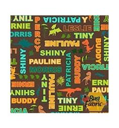 Hide and Seek with Buddy: Words Brown - Quilting Treasures 45782a