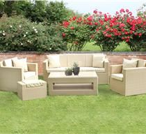 Richmond Natural Coloured Rattan Garden Sofa Set