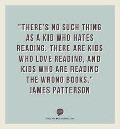 Kids and reading.