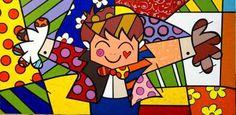 Quadro Tela - Painel O Abraço 2 - Romero Britto - R$ 370,00 no MercadoLivre