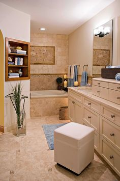 Stone bathroom remodel project  http://www.mysagehome.com/gallery