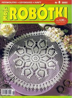 "Photo from album ""Moje robotki on Yandex. Crochet Chart, Knit Or Crochet, Crochet Doilies, Crochet Stitches, Crochet Patterns, Crochet Book Cover, Crochet Books, Holiday Crochet, Crochet Instructions"