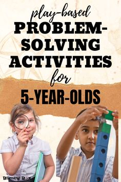 Looking for at-home activities for your Here are some play-based activities can do at home to build problem-solving skills. Homeschool Kindergarten, Homeschooling Resources, Kindergarten Class, Activities For 5 Year Olds, Learning Activities, Kids Learning, Problem Solving Activities, Problem Solving Skills, Summer Daycare