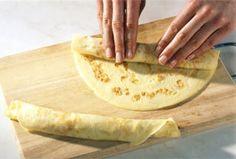 Flädle selber machen - so geht's - pfannkuchen-aufrollen
