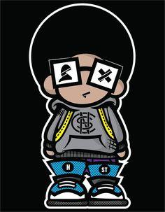 Graffiti Cartoons, Dope Cartoons, Doodle Characters, Graffiti Characters, Black Cartoon, Cartoon Art, Graphic Design Illustration, Illustration Art, Couple Travel