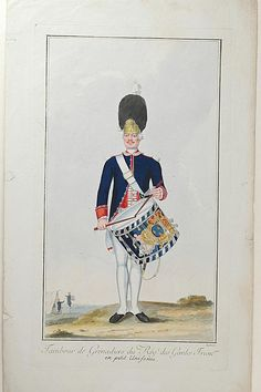 Nicolas Hoffmann, drum Grenadiers Regiment of French Guards Small uniform.