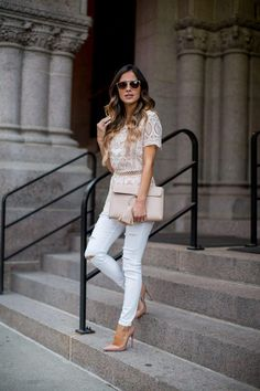 Lace Favorites Under $100. - Mia Mia Mine. Shobop Pink Top, Topshop Jeans, Christian Louboutin Heels, Asos Clutch