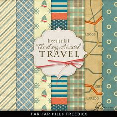 New Freebies Backgrounds Kit - The Long-Awaited Travel by Far Far Hill