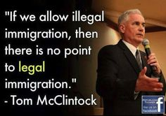 Not even sure what the controversy is here, not at all against immigration -- against illegal immigration! We all have to obey laws!!