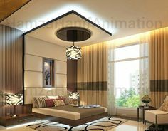 A Nice And Perfect 👌 Masterbed Interior By Contact Us For Visualization Of Your Dream Home. We Will Also Provide Construction Services For your Home. House Ceiling Design, Ceiling Design Living Room, Bedroom False Ceiling Design, Luxury Bedroom Design, Bedroom Furniture Design, Home Ceiling, Master Bedroom Design, House Design, Fall Ceiling Designs Bedroom