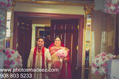 Bride walking down the aisle at The Venetian NJ - Indian Wedding. Best Wedding Photographer PhotosMadeEz, Award winning photographer Mou Mukherjee .Punjabi Bride, Punjabi Groom. Hindu Wedding in NJ. Sabyasachi Saree, Along with KM Events and Design House Decor Featured in Annual Issue of South Asian Bride Magazine 2015