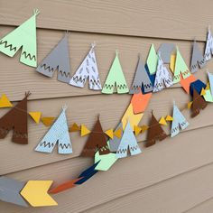Teepee southwern boho garlands/banners by StripestoSparkle on Etsy