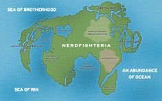 Nerdfighteria and major outlying islands