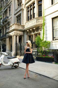 Sunglasses:The Row 8 now on Gilt.com. Dress:Zac Posen. Shoes:Jimmy Choo. Bag:Chanel