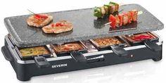 Raclette, rechteckig, 8 Raclette-Pfännchen, Grillfläche: Naturstein  (Heisser Stein), Grillfläche: 50x25cm, Temperaturregler, Kontroll-Leuchte, 1.500 Watt