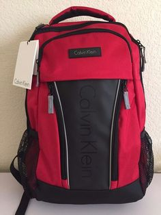 1e3a26aa2d Calvin Klein unisex Backpack Red black 19