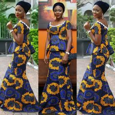 Check some lovely Ankara Aso Ebi Styles 2017 : Classical Ankara Collection This ankara styles range from long gown, short gown, ankara mixed with lace, skirt and African Attire, African Wear, African Women, African Style, African Design, Latest Fashion Dresses, African Fashion Dresses, Ankara Fashion, Fashion Styles