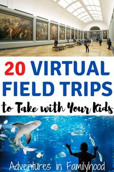 With school out, visit places and travel virtually with these 20 virtual field trips you can take with your kids. # 20 Virtual Field Trips to Take with Your Kids Home Activities, Educational Activities, Toddler Activities, Learning Activities, Summer School Activities, Shark Activities, Educational Websites, Indoor Activities, Teaching Ideas