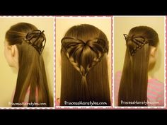 Half-Up 3D Heart Hairstyle, Valentine's Day Hairstyles | Hairstyles For Girls - Princess Hairstyles