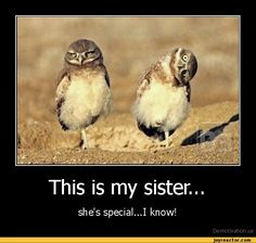Funny Sister E-cards   This is my sister...she's special...I know!De motivation, us ...