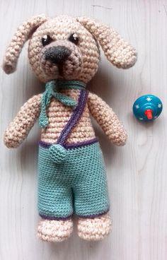Dog Hippolytus, dog amigurumi, crochet dogs, nice soft toy, hand knit animals, knitted cuddly toy, toy for the game, amigurumi crochet, dogs