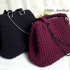 "32 curtidas, 2 comentários - Nilufar (@nilufar_handbags) no Instagram: ""Мои саквояжи #вязанаясумка#handmadebags#handmade#madeinkazakhsan#bagsbynilufar_handbags…"""