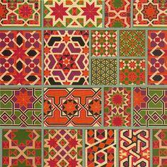 Moroccan pattern custom digital wallpaper