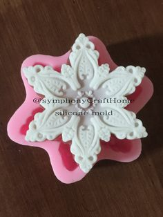 snowflake mold Christmas mold silicone soap by SymphonyCraftHome
