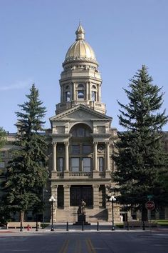 Wyoming - The Wyoming State Capitol building has a statue of Esther Hobart Morris, a pioneer in women's suffrage. Because of her efforts, Wyoming was essentially the first government in the world to grant women the right to vote. Cheyenne Wyoming, Wyoming State, Alaska Travel, Travel Usa, Yellowstone National Park, National Parks, Wonderful Places, Beautiful Places, Wyoming Vacation