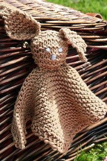 Bunny Lovey Blankie Free Knitting Pattern | Free Quick Easter Knitting Patterns at http://intheloopknitting.com/free-quick-easter-knitting-patterns