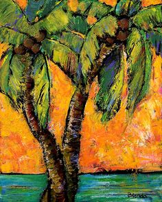 Mimosa Sky Palm - acrylic by ©Blenda Tyvoll (via FineArtAmerica)