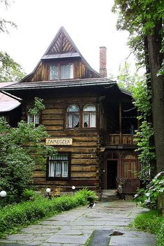 "Zameczek - little castle. Typical Polish ""Goral"" (highlander) home"