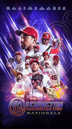 Washington Nationals Internship on Behance Angels Baseball, Baseball Art, Sports Basketball, Sports Art, Sports Teams, Washington Nationals Baseball, Sports Predictions, Baseball Videos, Messi Photos