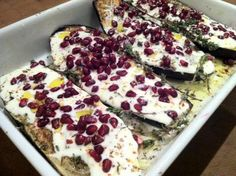 Ottolenghi's aubergines | etenenzo Otto Lenghi, Good Food, Yummy Food, Yotam Ottolenghi, Eggplant Recipes, Middle Eastern Recipes, Broccoli, French Toast, Food And Drink